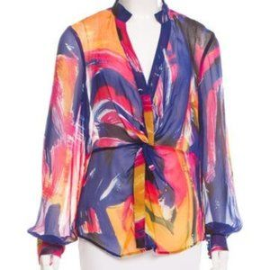 Diane von Furstenburg Colorful Silk Blouse